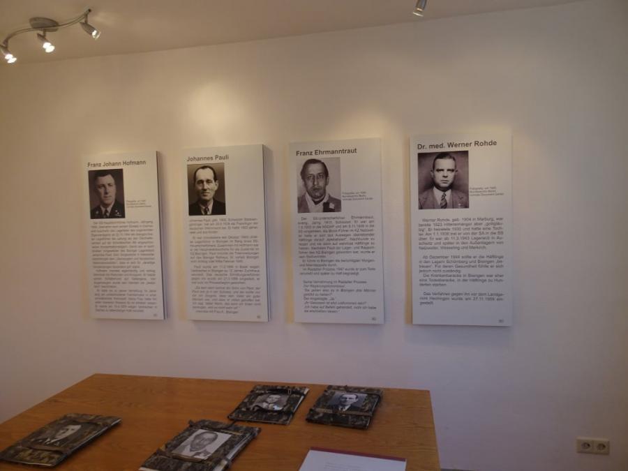 Täterraum Fotograf: Jakob Wurzel, Silas Röhm Ort: Museum der KZ-Gedenkstätte Bisingen (Erdgeschoss)