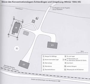 Lageplan des KZ-Außenlagers Echterdingen